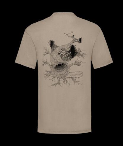 Gutvoid - Wormhole T-shirt (Back - Kakhi)