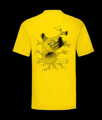Gutvoid - Wormhole T-shirt (Back - Yellow)