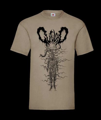 Gutvoid - Wormhole T-shirt (Front - Kakhi)